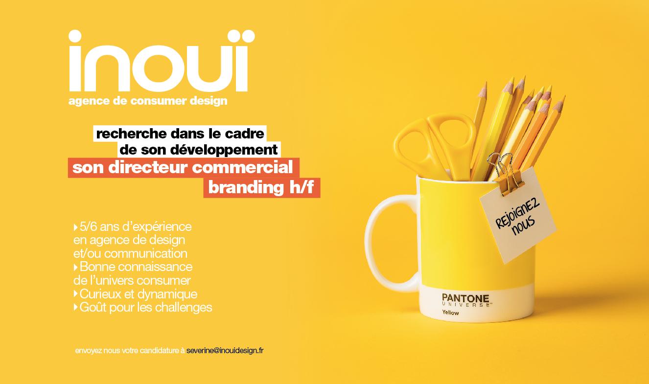 Offre d'emploi / recrutement : l'agence consumer design Inouï cherche son directeur commercial